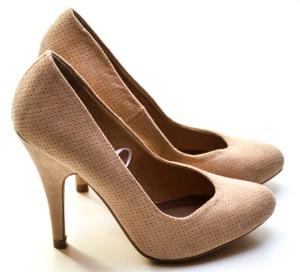 Nude heels.